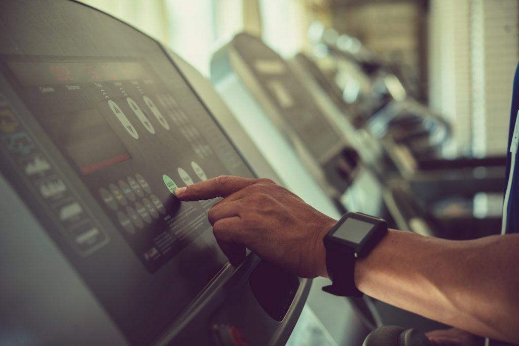 Adjusting Speed on Treadmill